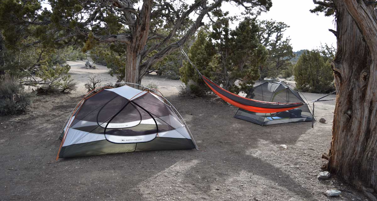 Each campsite has plenty of space for everyone