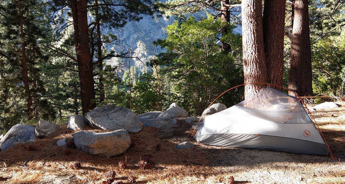 Campsite from the first night at Big Pine North Fork