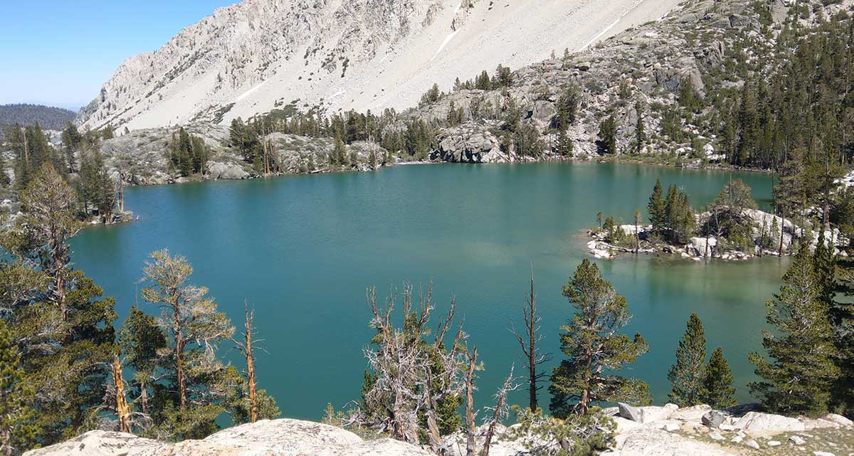 First Lake along the Big Pine North Fork