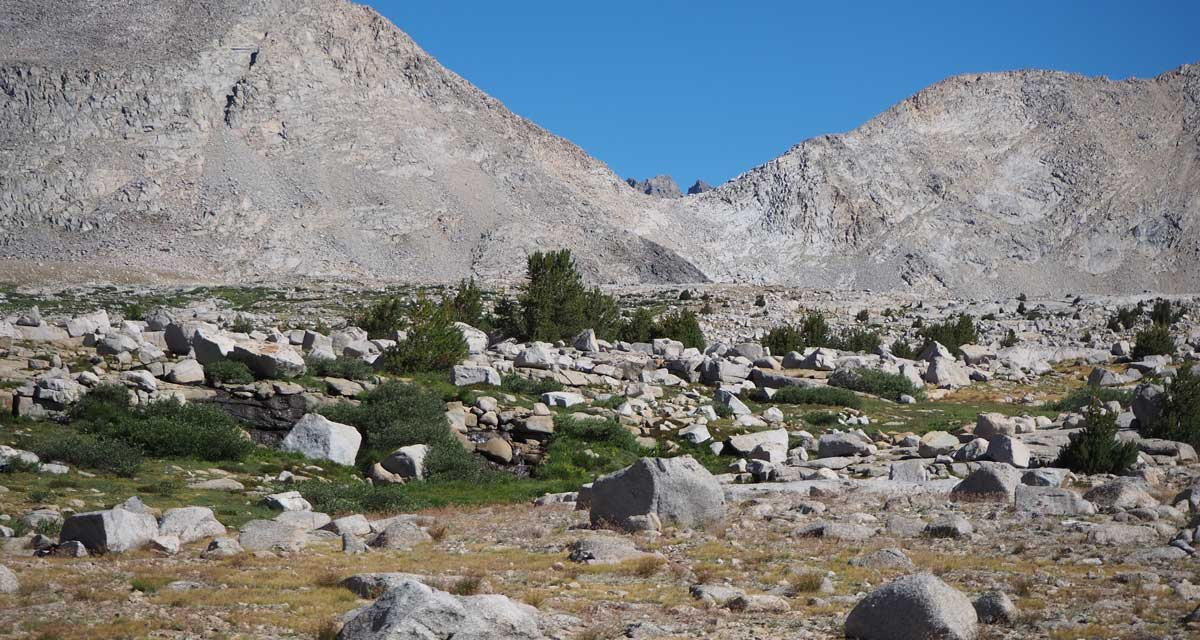 Mather Pass from the trail