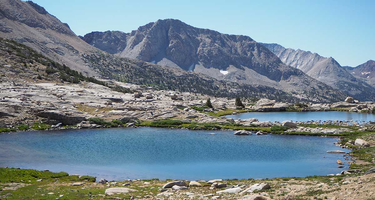 Two lakes at the base of Mather pass