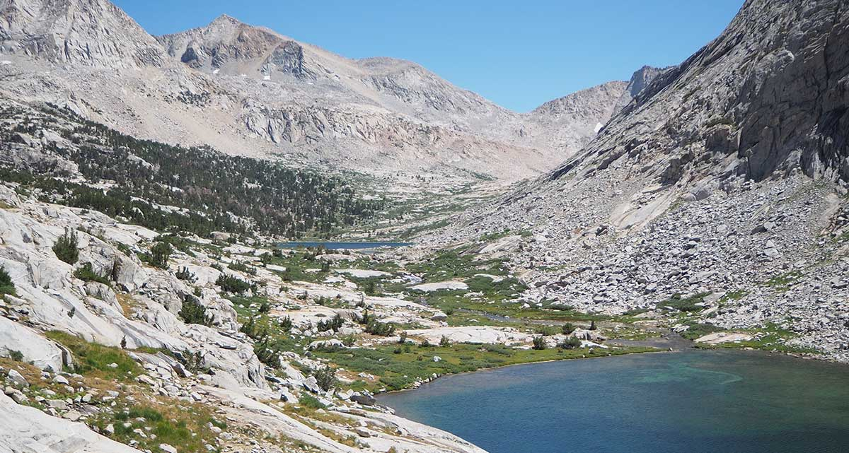 Palisade Lakes with Mather Pass in the background