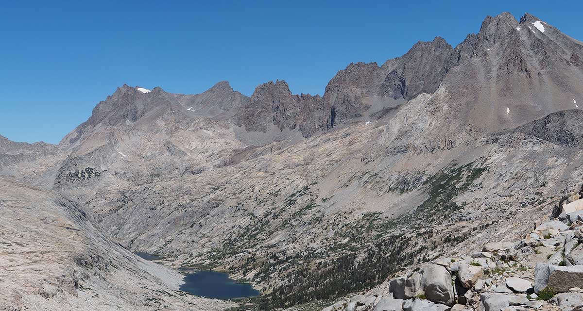 Palisade Lakes and the Palisade Crest